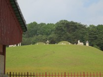 Myeongneung - the tomb of Queen Inhyeon (right) and King Sukjong (left)