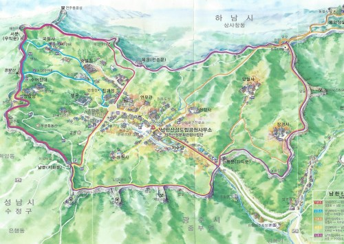 Namhansanseong map