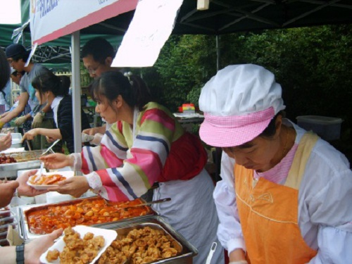 Food stalls at the Fountain Pub Korean Food Festival