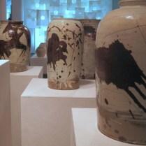 Large Chulhwa buncheong vases by Ree Soo-jong