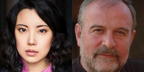 Sumi Hwang (photo Shirley Suarez) and Andrew Deutsch