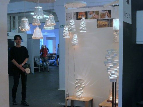 Ceramic lampshades from NJ Lighting