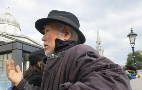 Kim Kulim in Trafalgar Square on 20 September