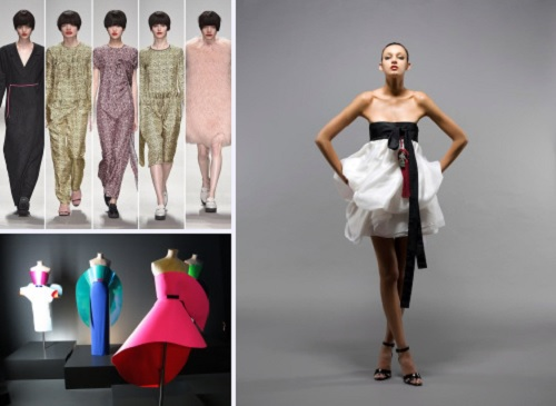 Clockwise from top left: designs by J JS Lee, Eudon Choi and Rejina Pyo