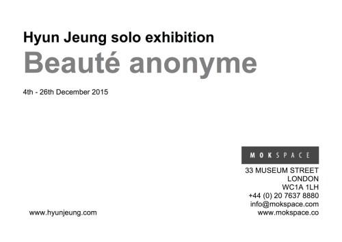 Beauté anonyme flyer