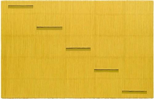 Ecriture (描法) No.110830 (2011). Mixed media with Korean Hanji paper on canvas. 130 x 200 cm. Courtesy Galerie Perrotin
