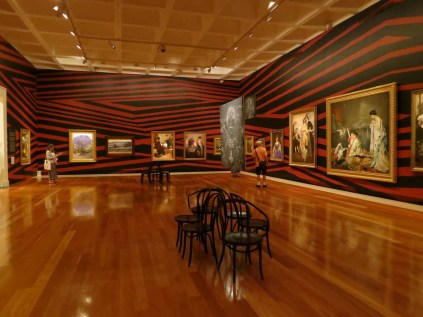 A gallery in QAG's permanent collection with a bold intervention by an indigenous Australian artist for APT8