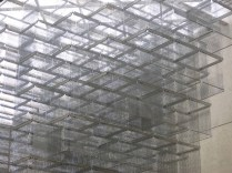 Haegue Yang's Sol LeWitt Upside Down – Open Modular Cubes (Small), Expanded 958 Times (2015) – installed in the QAG Watermall at APT8