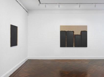 Installation view of the Yun Hyong-keun exhibition at Blum & Poe