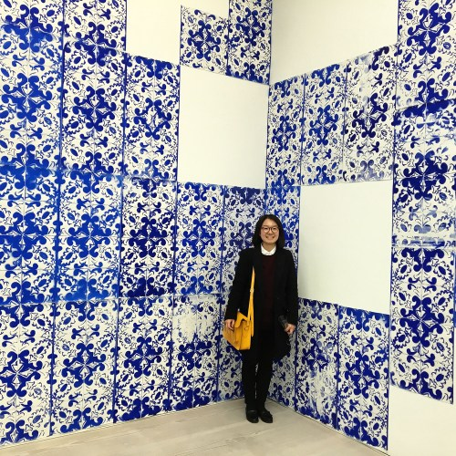 Kyung Hwa Shon with her work The City of Fragments