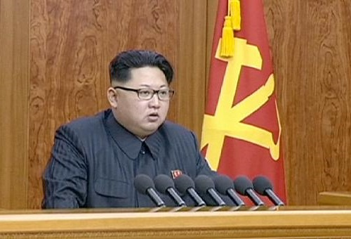 Kim Jong Un delivering 2016 New Year Address