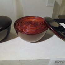 Wooden lacquer bowls by Park Gang-yong and Jung Sang-gil