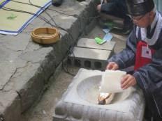 Daegwallyeong Sanshinje: the prayers are burned