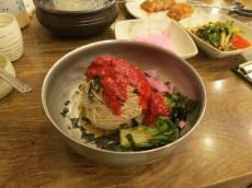 A dinner of buckwheat noodles