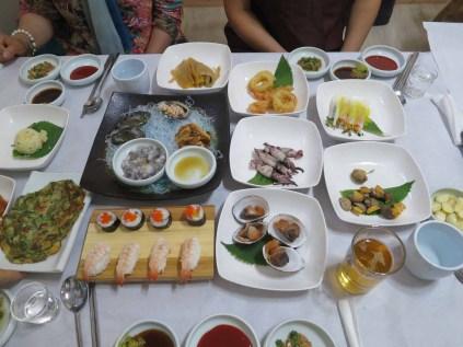 Sashimi dinner in Sancheong