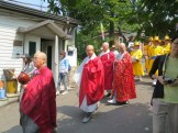 The procession down to the graveyard