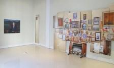 Anna Paik's portrait of David Kamsler, and Soonhak Kwon's detailed study of Kamsler's living room.