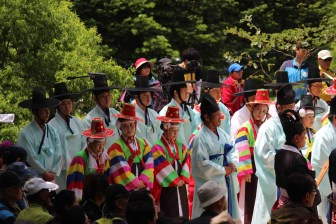 Daegwallyeong Guksaseonghwangje: the ceremony in progress