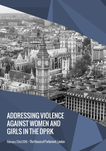 Addressing violence against women and girls in the DPRK