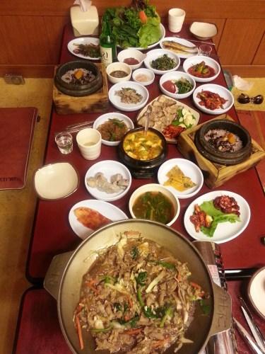 Dinner in Buyeo-eup