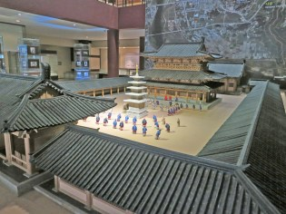 A scale model of what Jeongnimsa might have looked like - in the nearby museum