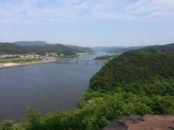 A view southeast along the Geumgang river from Gongsanseong