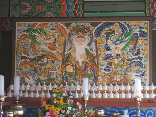 The alter painting in Goransa's prayer hall
