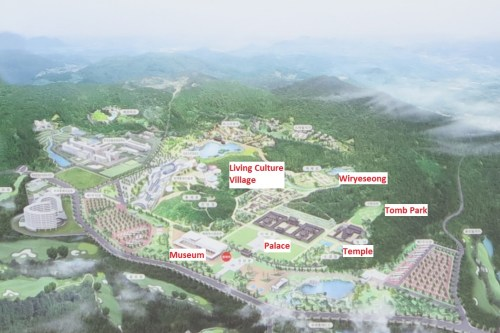 A map of Baekje Cultural Land
