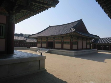 The Munsajeon to the east of the main courtyard