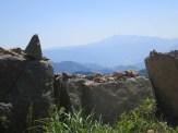 Jirisan's Cheonwangbong peak seen from Hwangmaesan