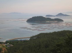 The view south from the hotel in Ttangkkeut Maeul at 6am