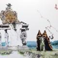 Kim Nam Pyo: Instant Landscape – Leopard #1 (2016) Charcoal on canvas, 145.5 x 112.1 cm. (Atelier Aki)