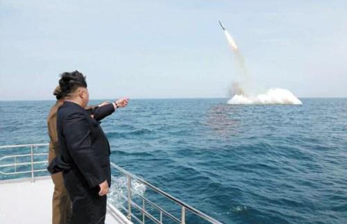 Kim Jong-un SLBM test