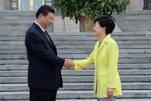 Presidents Xi and Park