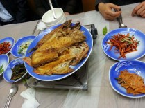 Rather too much breakfast for six, in Jagalchi fish market