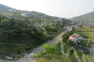 Views over the Donguibogam Village from Sancheong's newest hotel