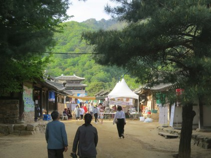 The KBS film set in Mungyeong Saejae Provincial Park - home to the tea bowl festival