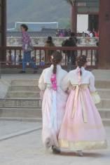 Visitors at the Gyeongbokgung