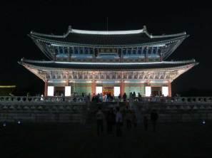 Gyeongbokgung at night