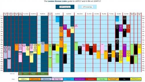 LEAFF + LKFF schedule