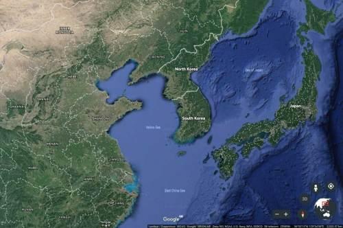 NE Asia map