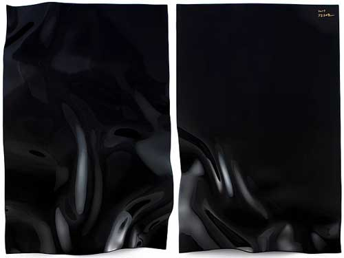 Chung Hae-cho's lustrous lacquer-work entitled Rhythm of the Black (2017)