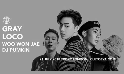 Post image for Gray, Loco, Woo Won Jae, DJ Pumkin in London