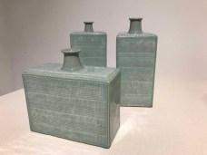 Yoo Kwangyul: celadon rectangular bottles
