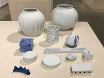 Porcelain jars and desk accessories by Lee Youngho