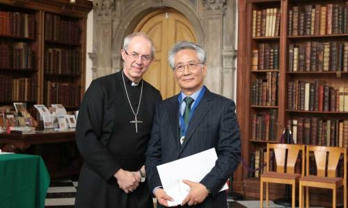 Geonyong Lee with Justin Welby