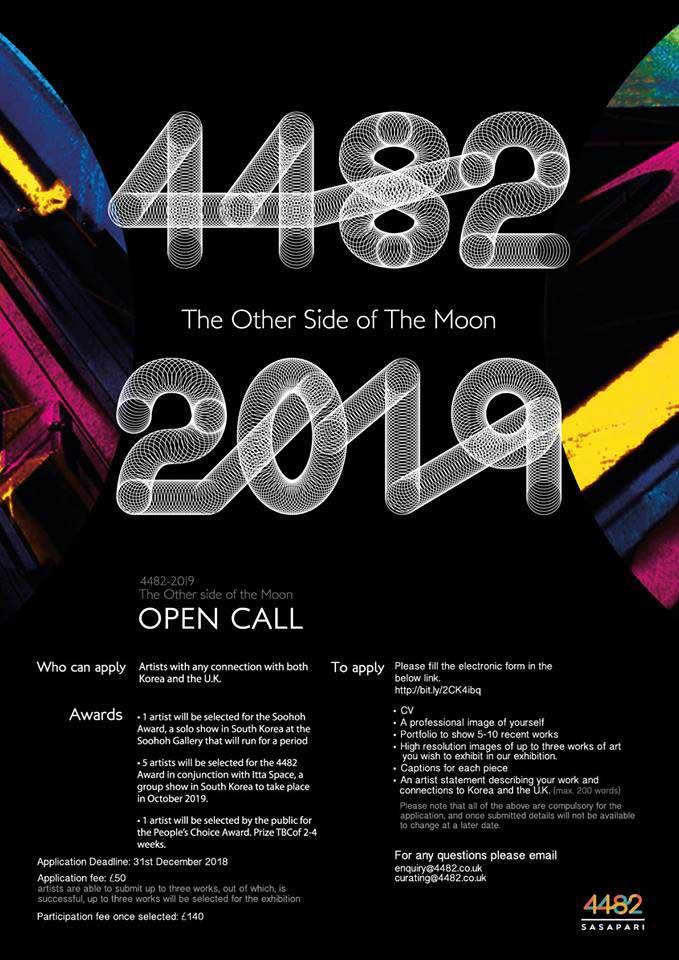 4482 2019: OPEN CALL for artists   London Korean Links