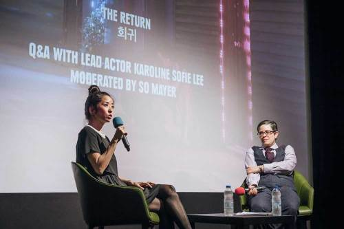 Actress Karoline Sofie Lee in conversation with So Mayer
