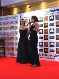 Stephanie Seungmin Kim receives the award