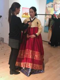 Hanbok dressing ceremony - the bride